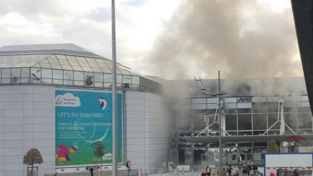 Two explosions were heard at Brussels airport.