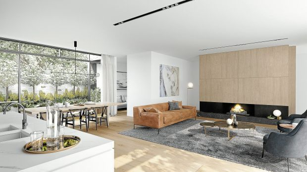 Plus Architecture created a tranquil living room.