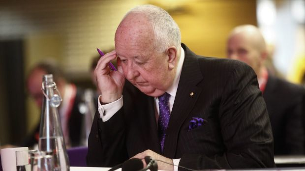 Sam Walsh, outgoing chief executive officer of Rio Tinto Group, has taken a pay cut.