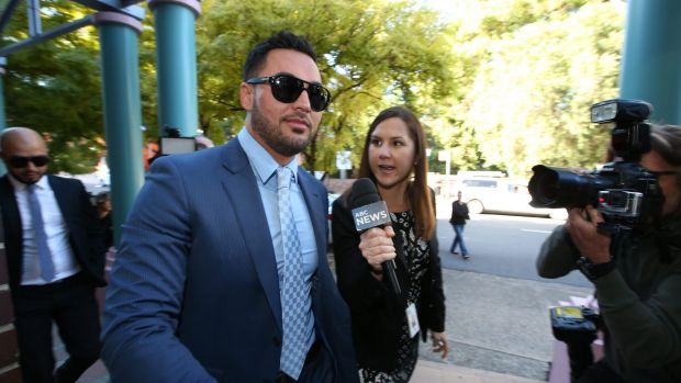 Salim Mehajer arrives at Burwood Local Court last week.