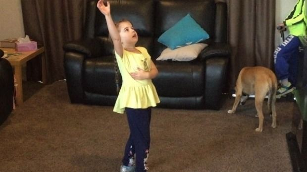5 year old Chloe Knights dances in a Facebook video which Facebook rejected on song copyright grounds.