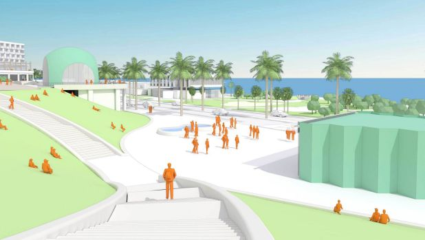 An artist's impression of the St Kilda triangle revamp.