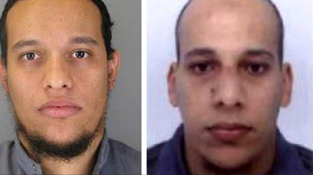 Said and Cherif Kouachi, believed to be behind the attack at the satirical weekly Charlie Hebdo.