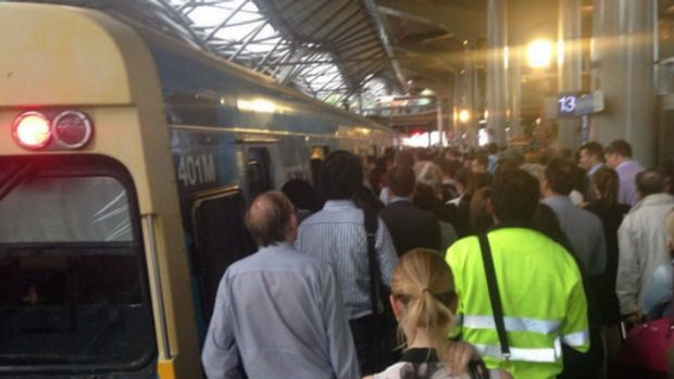 Thousands of commuters were stranded on overcrowded platforms on Wednesday night.