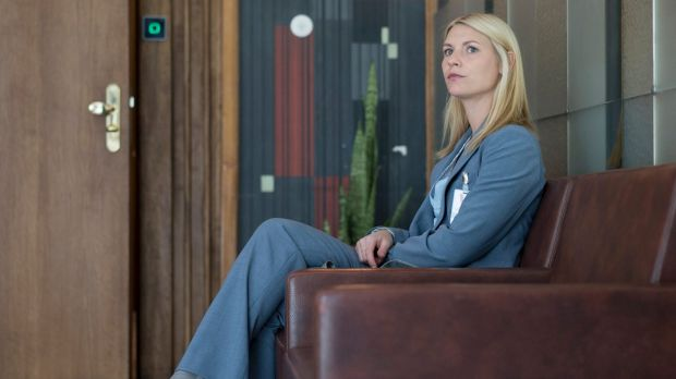 Claire Danes as Carrie Mathison in <i>Homeland</i> season five.
