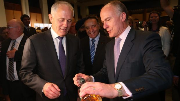 """You look parched, current Prime Minister in whose ministry I no longer have a role - here, let me fill your chalice. ..."