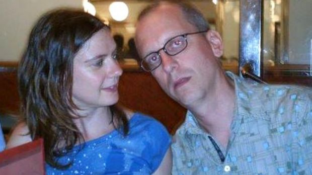 Charlotte Sutcliffe with her partner IT consultant David Dixon, who has disappeared following the Brussels attacks.