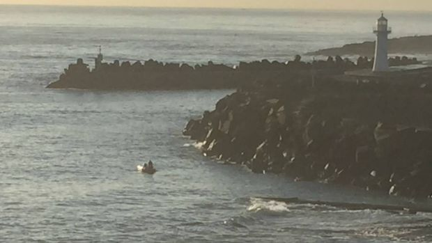 Police continued their search for the missing swimmer on Thursday.