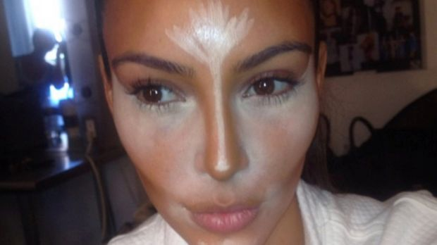 Make-up contouring like this extreme effort by Kim Kardashian could be a thing of the past if hair contouring takes off.