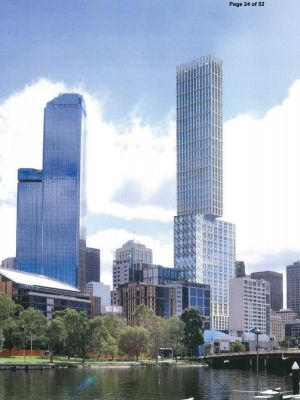 CBUS Property's previous proposal for 447 Collins Street that was rejected in 2014 by Matthew Guy.