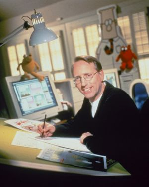 Scott Adams, creator of the Dilbert cartoon.