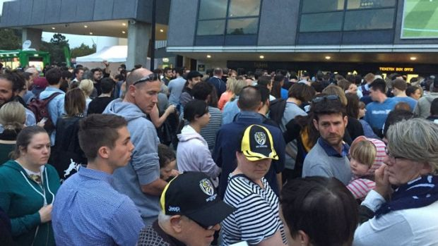 Fans were stuck in long queues outside the MCG due to Ticketek ticketing issues on Thursday night.