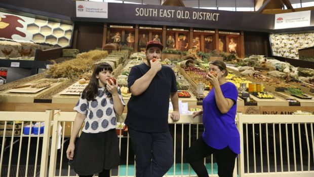"""There's good food to be found at the show"", says Mike Eggert, centre."