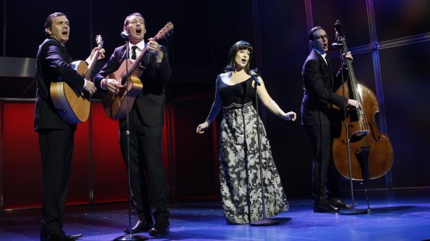The cast of <i>Georgy Girl</i>. Co-producer Richard East says he wanted to help bring an Australian story to the stage.