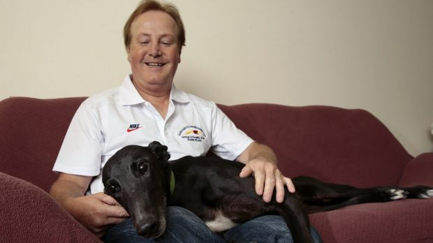 Canberra greyhound breeder Alan Tutt now has two dogs on the couch.