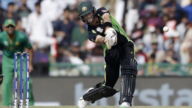 IPL hometown favourite: Glenn Maxwell at the crease.