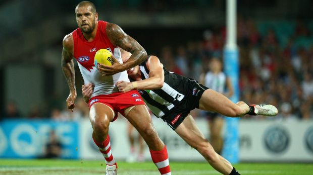 Lance Franklin plays game 250.
