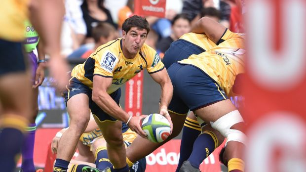 Brumbies scrumhalf Tomas Cubelli had a try denied in the first 30 seconds of the game against the Cheetahs.
