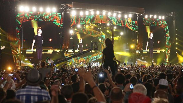 Thousands of fans listened to the Rolling Stones play for the first time during a free concert in Havana on Friday.