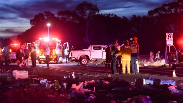 The Chiltern crash closed the Hume Freeway for some hours on Sunday night.