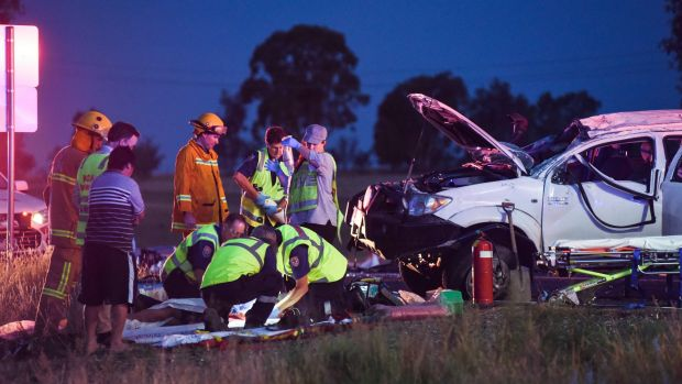 The serious single crash south of Chiltern left a six-year-old seriously injured.