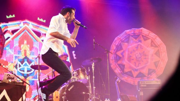 The Cat Empire plays the Mojo stage on day four of Bluesfest at the Tyagarah Tea Tree Farm, NSW.