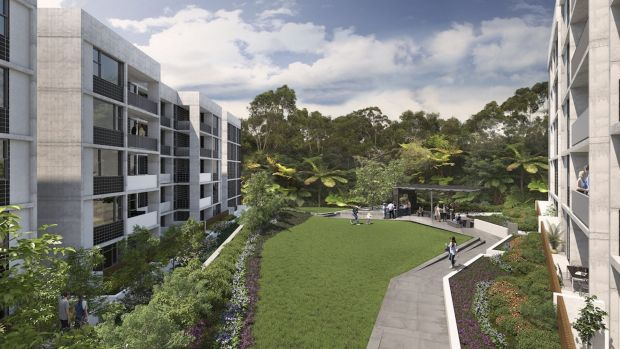 The DHA project at Crimson Hill, Lindfield.