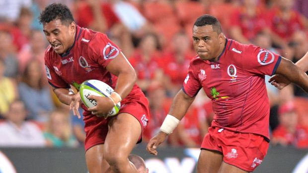 In strife: Reds prop Sef Fa'agase.