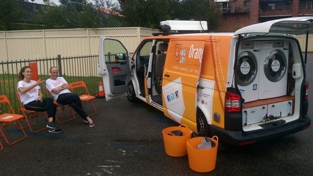 Orange Sky volunteers at St Alban's Anglican Church soup kitchen in Highgate.