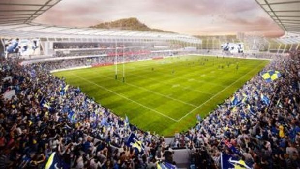 An artist's impression of new Townsville rugby league stadium