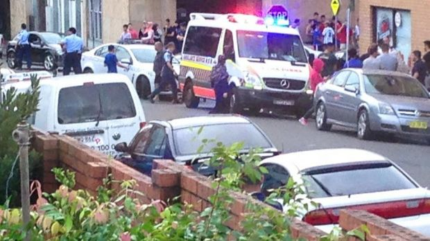 Witnesses called triple zero after the 23-year-old man was shot in Arncliffe on Monday afternoon.