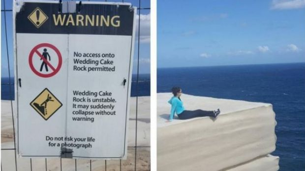Sorrynotsorry A Sightseer Posts Photo Of The Warning Sign Beside Photograph