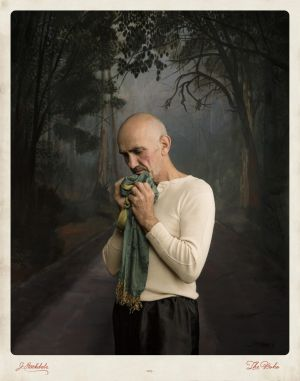 Jacqui Stockdale's portrait of Paul Kelly for her 2015 series The Boho.