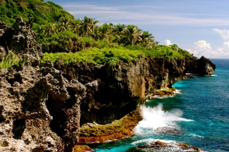 The sea cliffs on beautiful Christmas Island. But will islanders have enough freshwater within coming decades?
