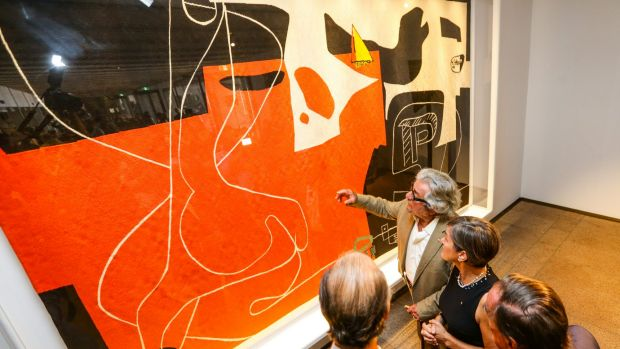 Sydney Opera House's Utzon/Le Corbusier tapestry has been hailed by chief executive Louise Herron as an extraordinary ...
