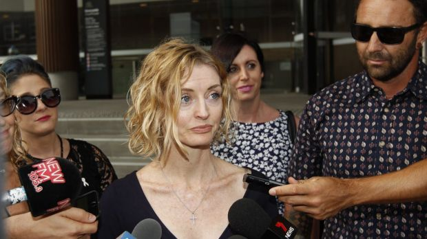 """Great big hole in our lives"": Charnie Braz, Marika Ninness' sister, outside court in Newcastle after the verdict."
