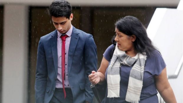 Nicholas Toso leaves Wollongong Court with his mother after learning he may have to attend a sex offender's program.