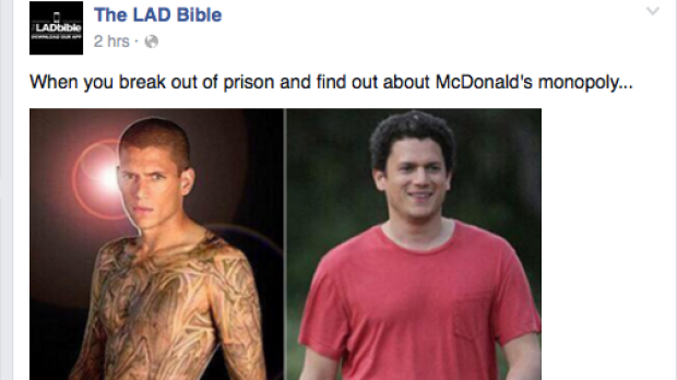 The offensive meme alongside two contrasting pictures of the actor - one of Miller on the Fox show and the other in ...