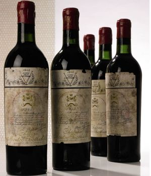 Ten bottles of 1945 Mouton Rothschild are estimated to sell for as much as $US120,000.