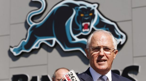 "Malcolm Turnbull, pictured at the new Penrith Panthers Rugby League Academy, described the tax plan as ""the most ..."