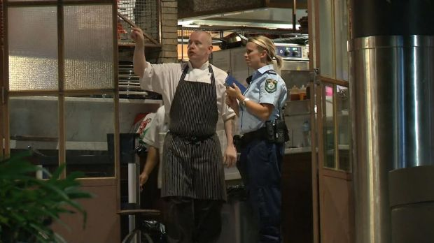 Police set up an extensive crime scene at Westfield Hornsby and interviewed restaurant staff.