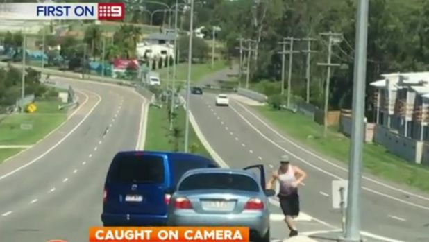 Footage of a road rage incident in Durack.