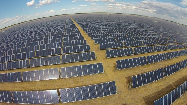 The government says it's on track to meet a national target of 20 per cent renewable energy by 2020.