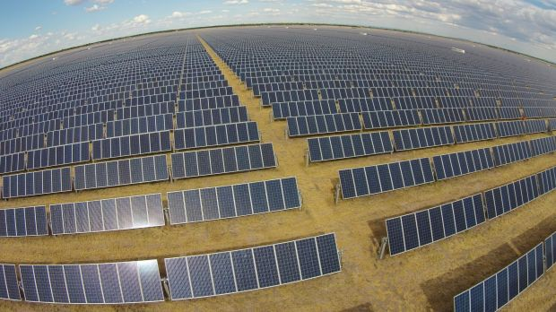 The Moree solar farm in NSW, one of many now operating, under construction or in the pipeline.