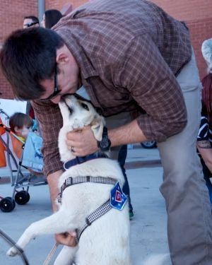 Eric Yarger is reunited in the US in 2014 with  Snickle Fritz. A US charity, Puppy Rescue Mission, fundraised to cover ...