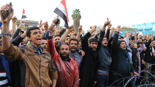 Protesters have rallied to the Sadrist cause over the issue of government corruption.