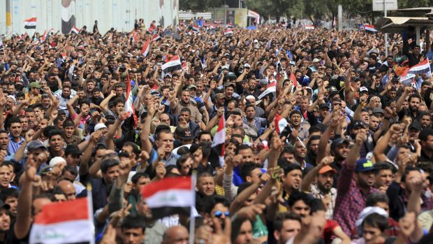 A decade after he first confronted US forces, Muqtada al-Sadr has again shown his power to mobilise Shiite masses.