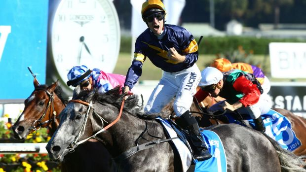 Eager: Tommy Berry wins last year's TJ Smith Stakes on Chautauqua.