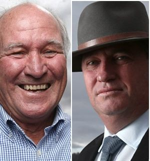 Territory: Tony Windsor and Barnaby Joyce.