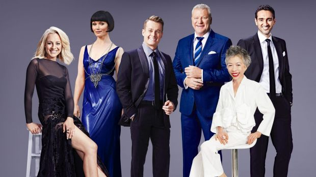 Nominees for the 2016 TV Week Gold Logie: (from left) Carrie Bickmore, Essie Davis, Grant Denyer, Scott Cam, Lee Lin ...